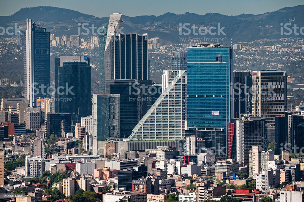Mexico City Financial District stock photo