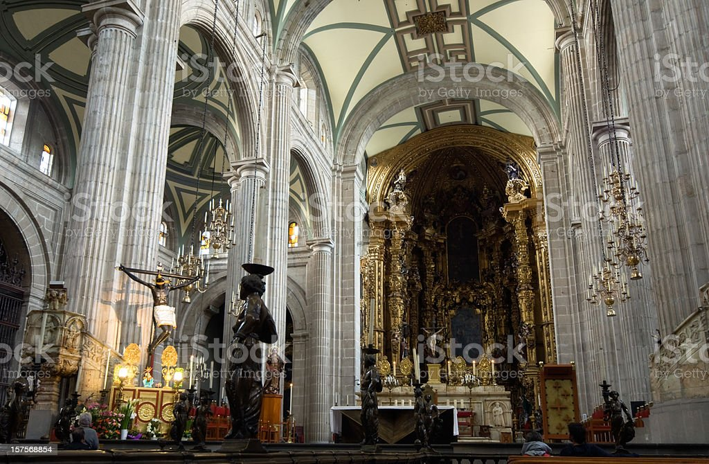 Catedral Metropolitana Mexico City stock photo