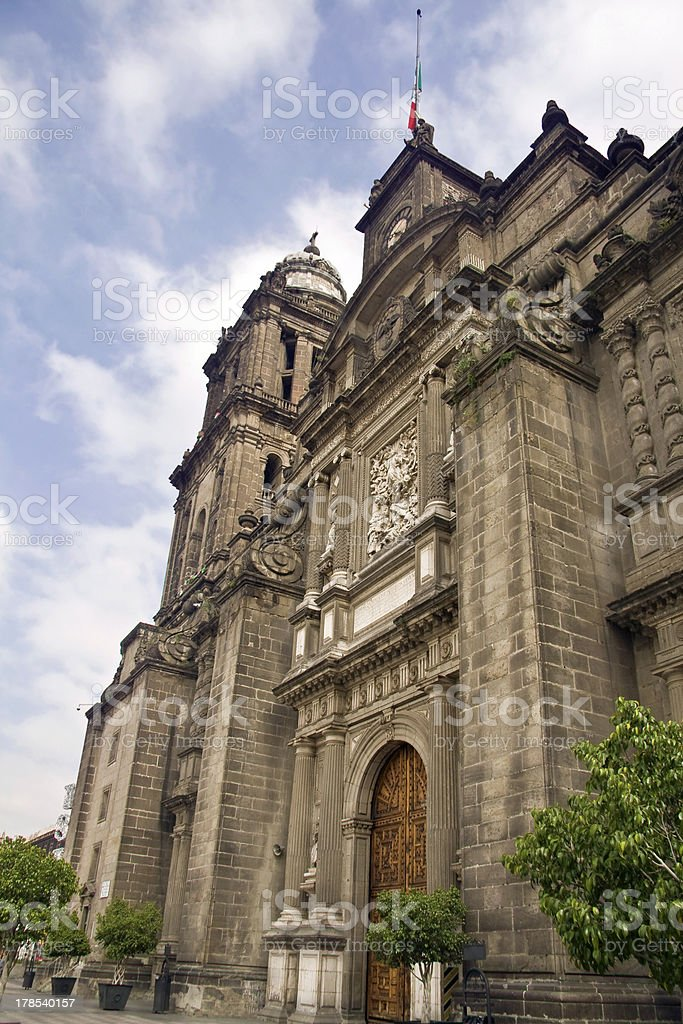 Mexico City Metropolitan Cathedral royalty-free stock photo