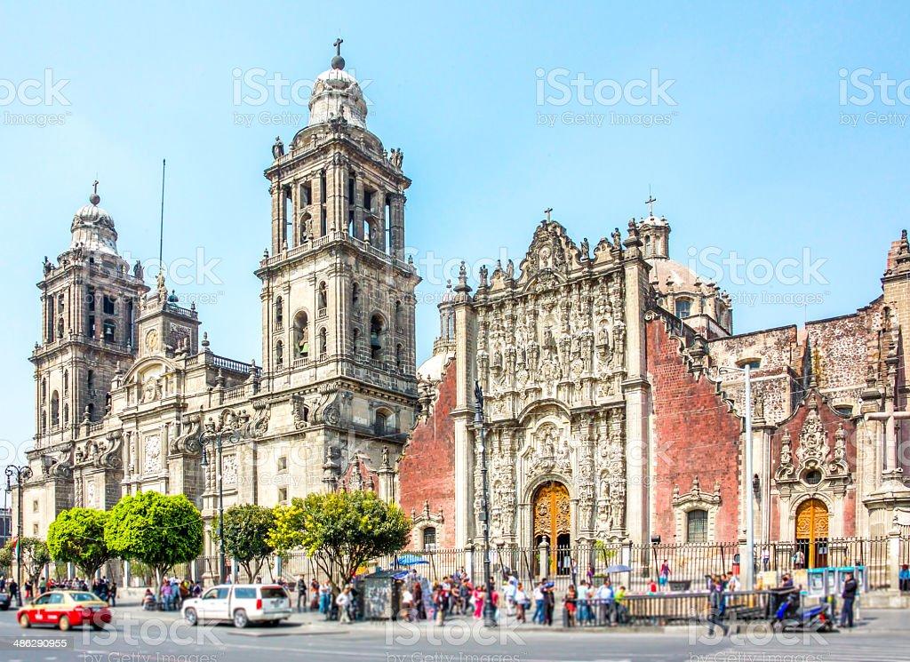Mexico City Mtropolitan Cathedral stock photo