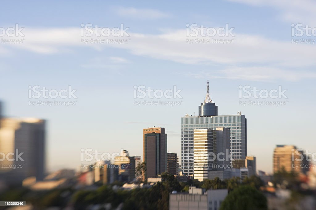 mexico city skyline stock photo