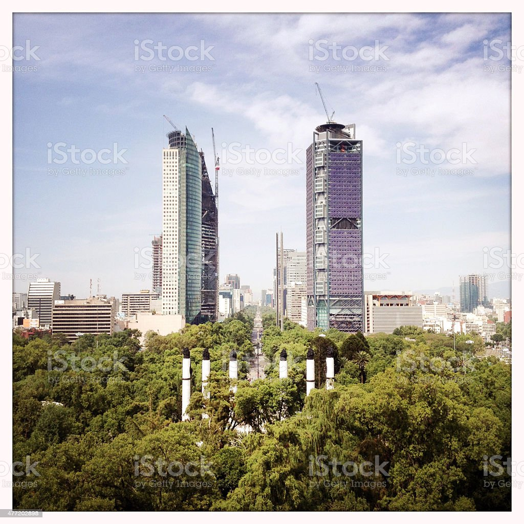Mexico City skyscrapers downtown stock photo