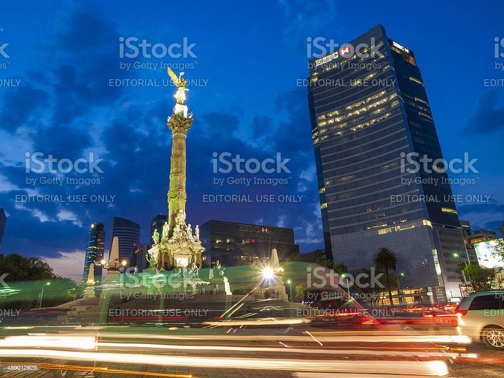 Mexico City statue stock photo
