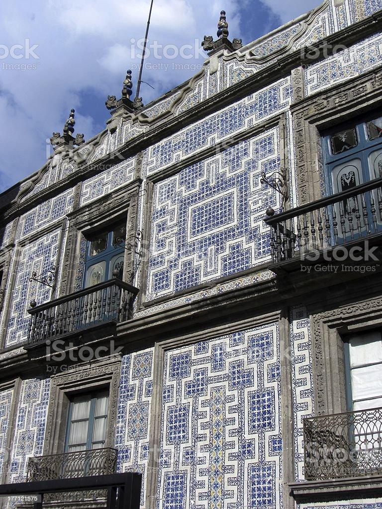 Mexico City Tiled Building stock photo
