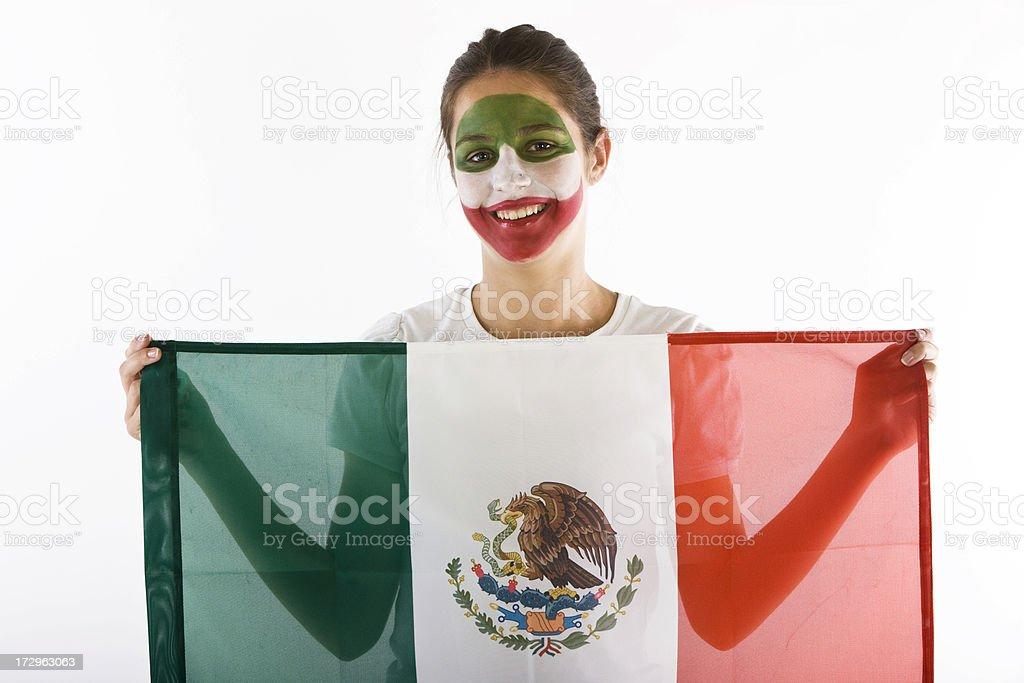 Mexico fan royalty-free stock photo