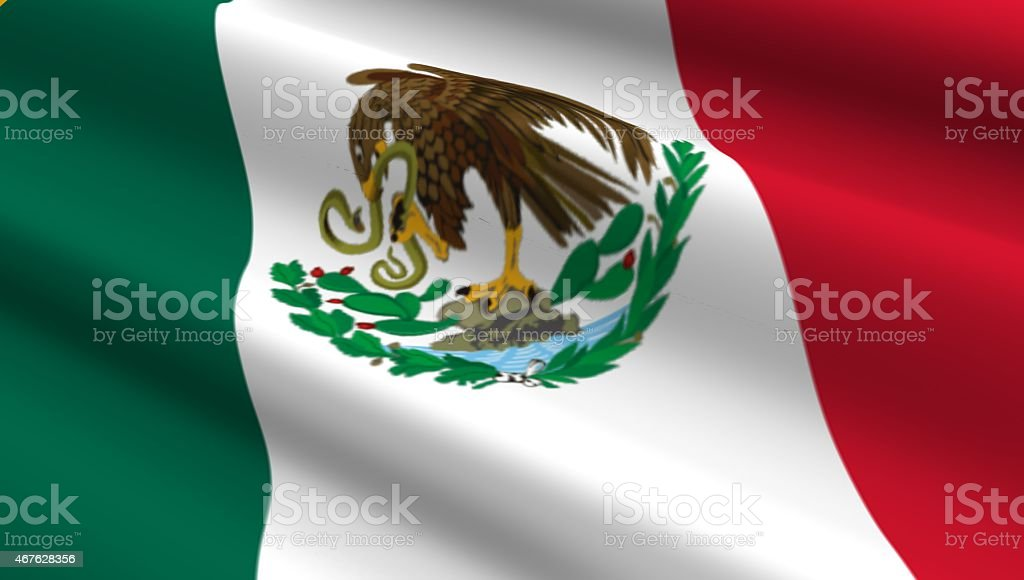 Mexico flag background. stock photo