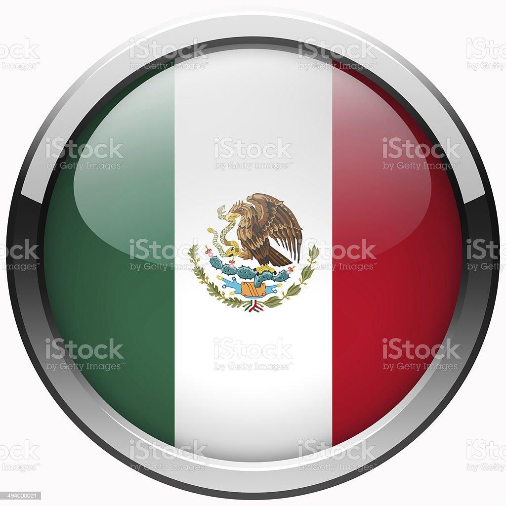 mexico flag gel metal button stock photo