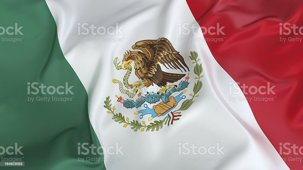 Mexico Flag royalty-free stock photo