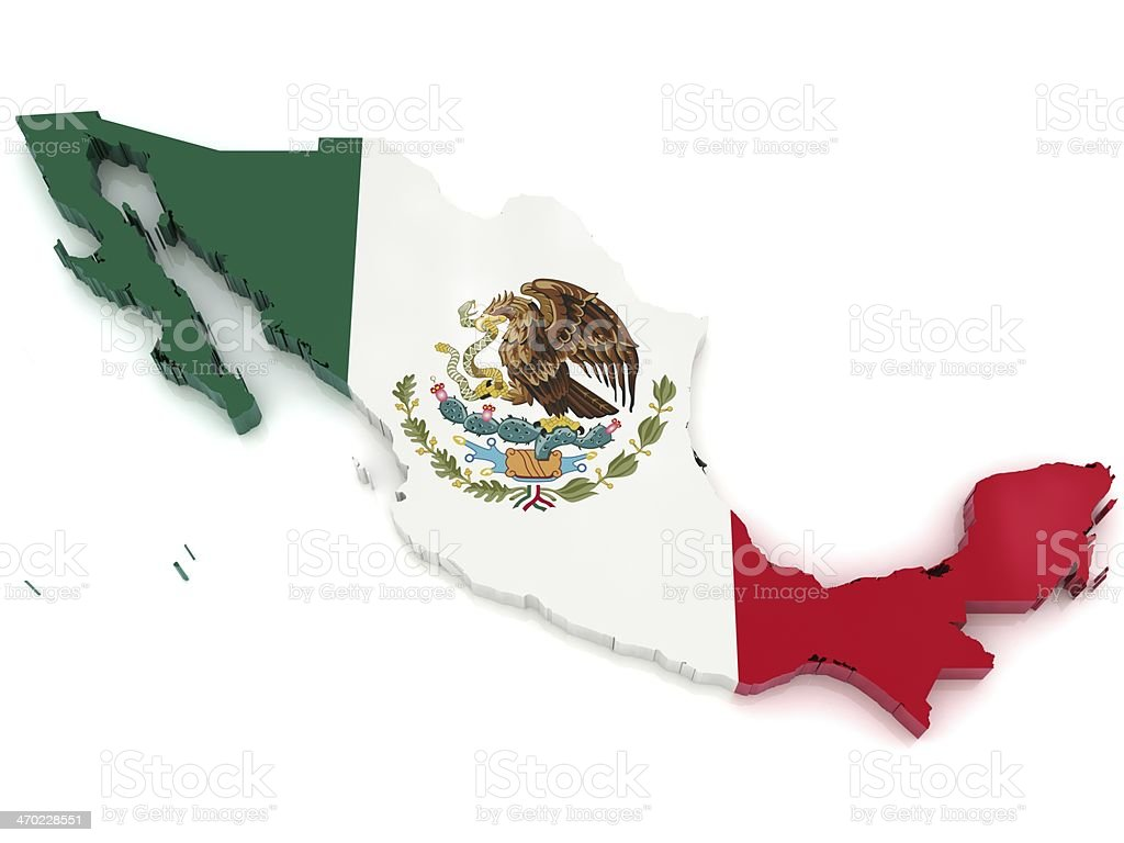 Mexico Map royalty-free stock photo