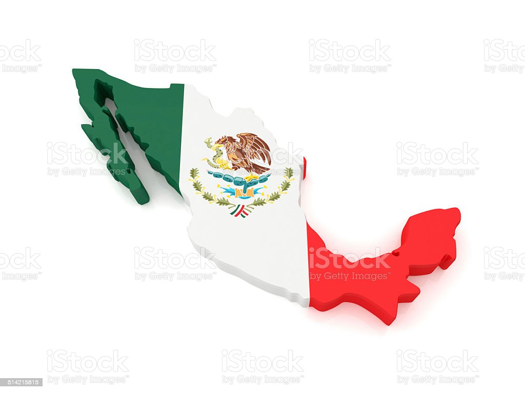 Mexico Map stock photo