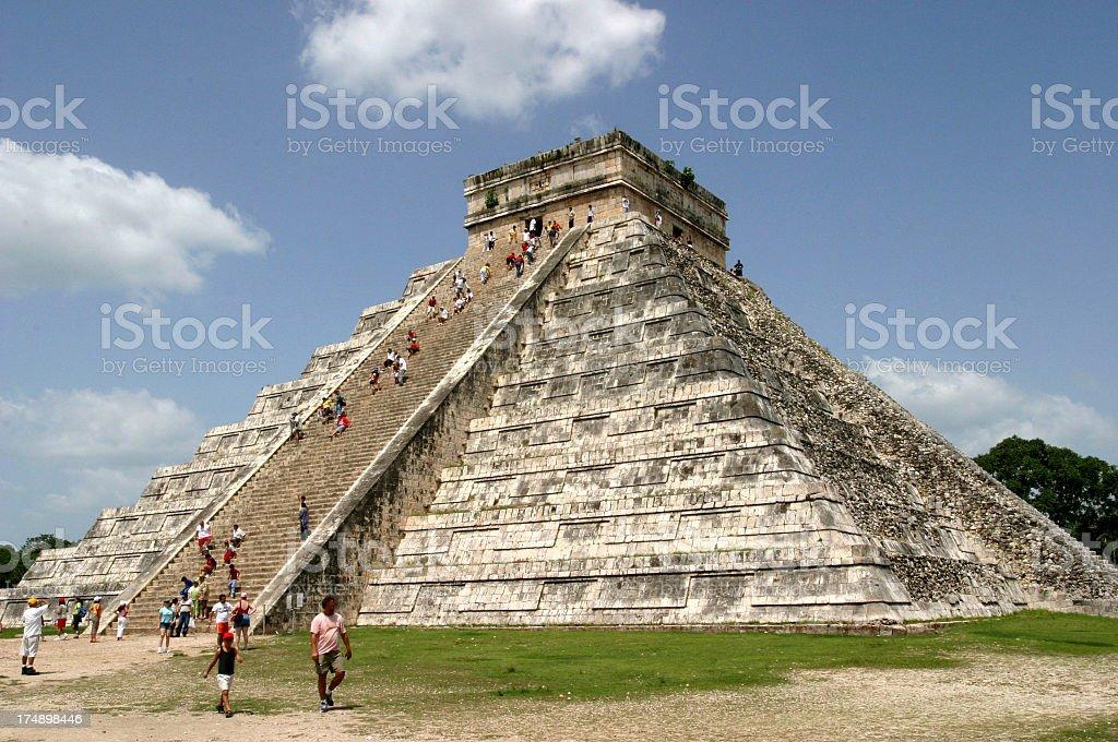 Mexico Mayan Temple Chichen Itza stock photo