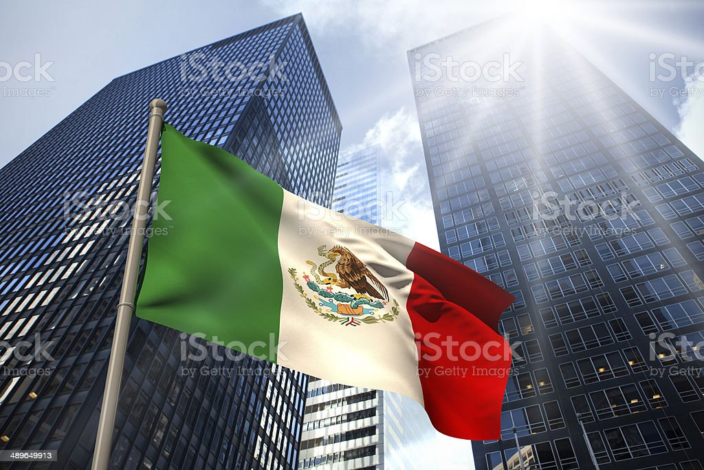 Mexico national flag stock photo