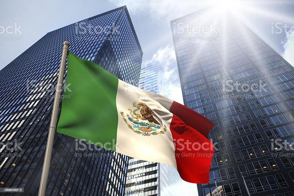 Mexico national flag stock photo