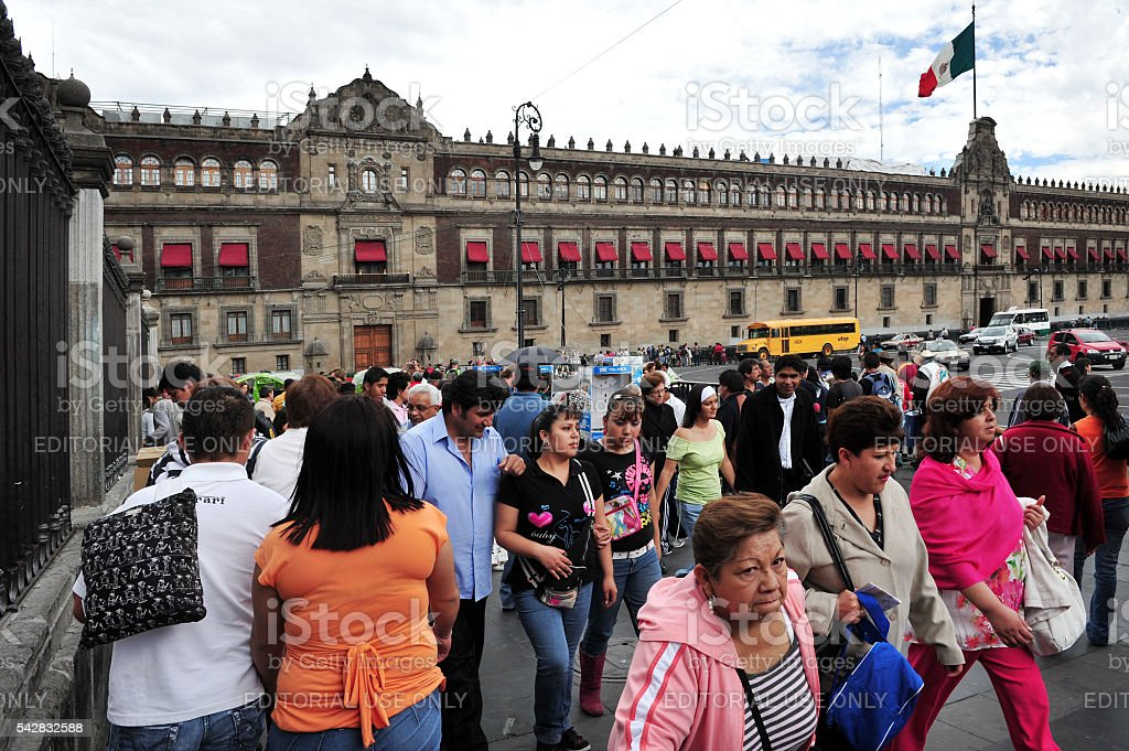 Mexico National Palace in Mexico City, Mexico stock photo