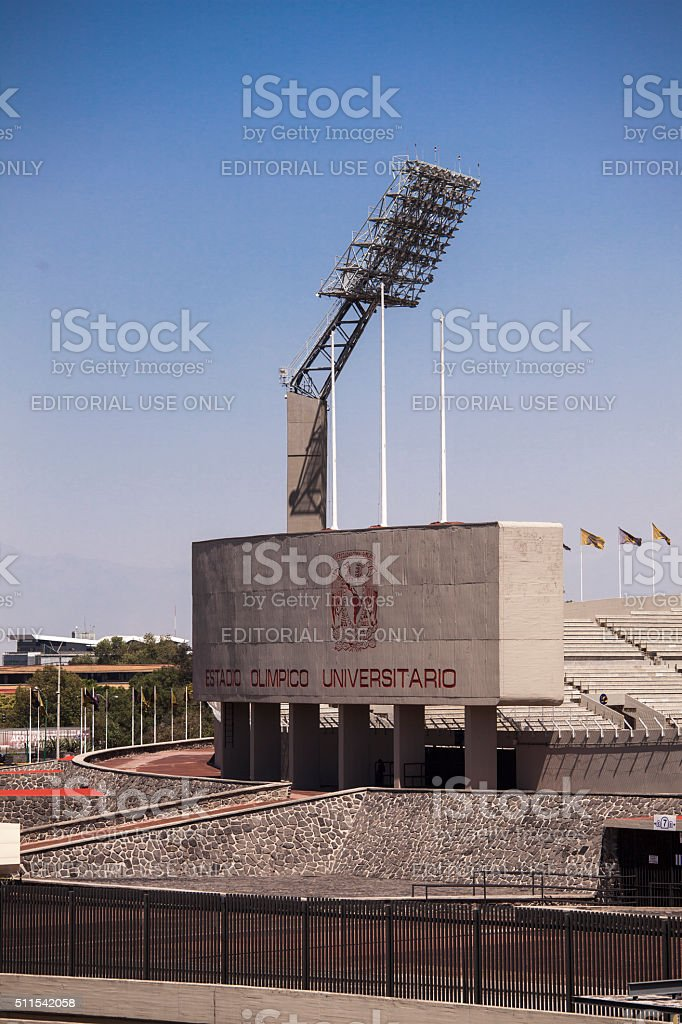 Mexico Olympic stadium stock photo