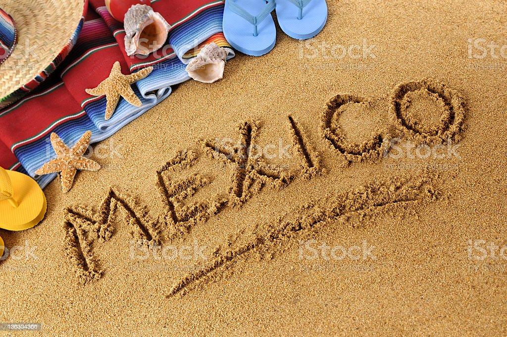 Mexico on a beach stock photo