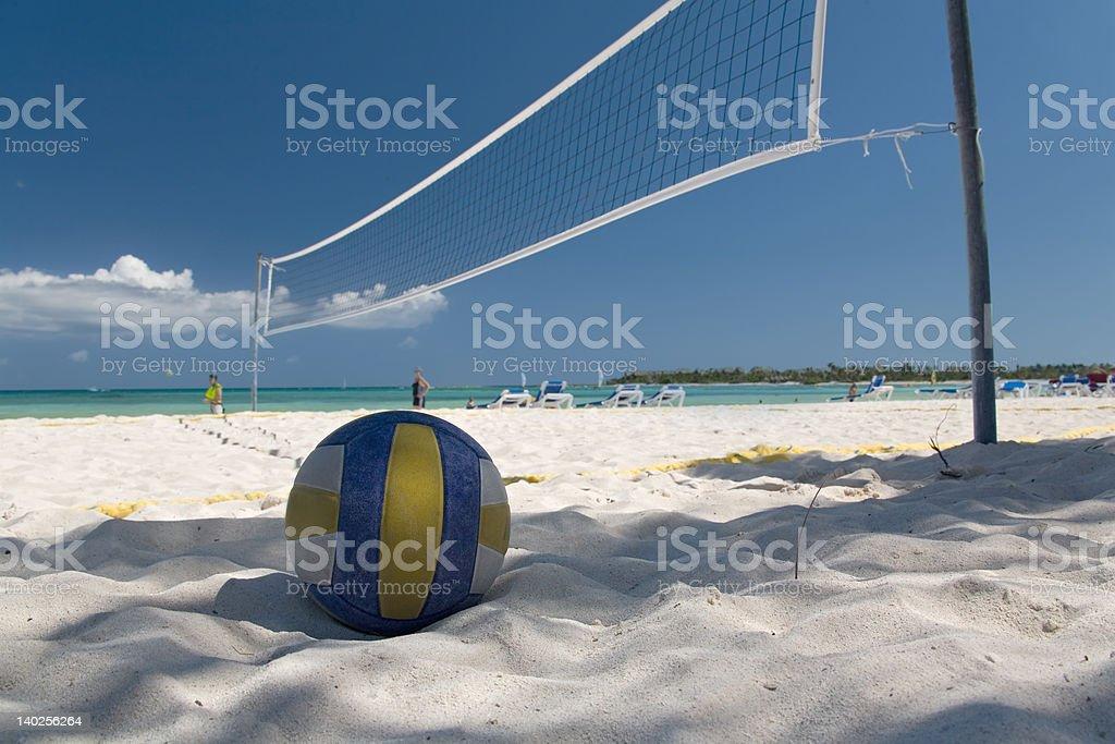 mexico on beach net ball stock photo