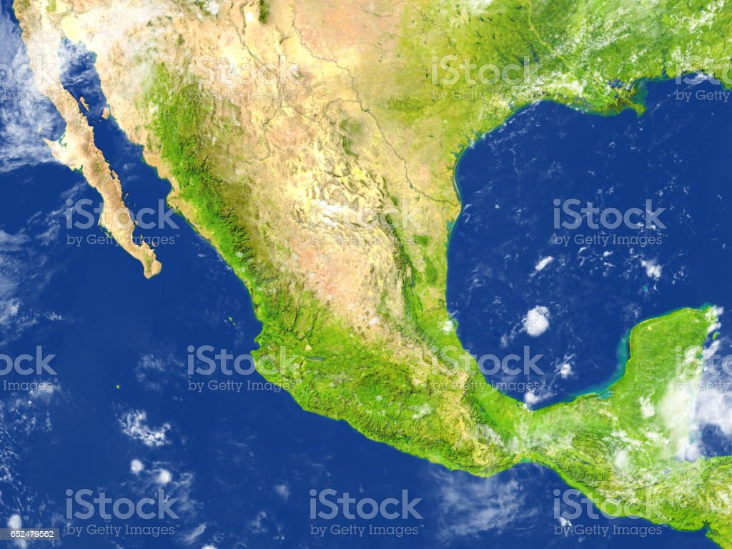 Mexico on planet Earth stock photo