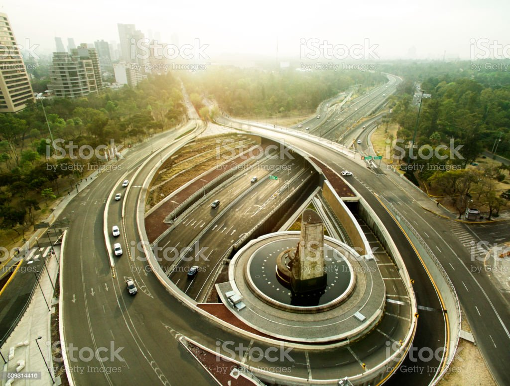 Mexico roundabout stock photo