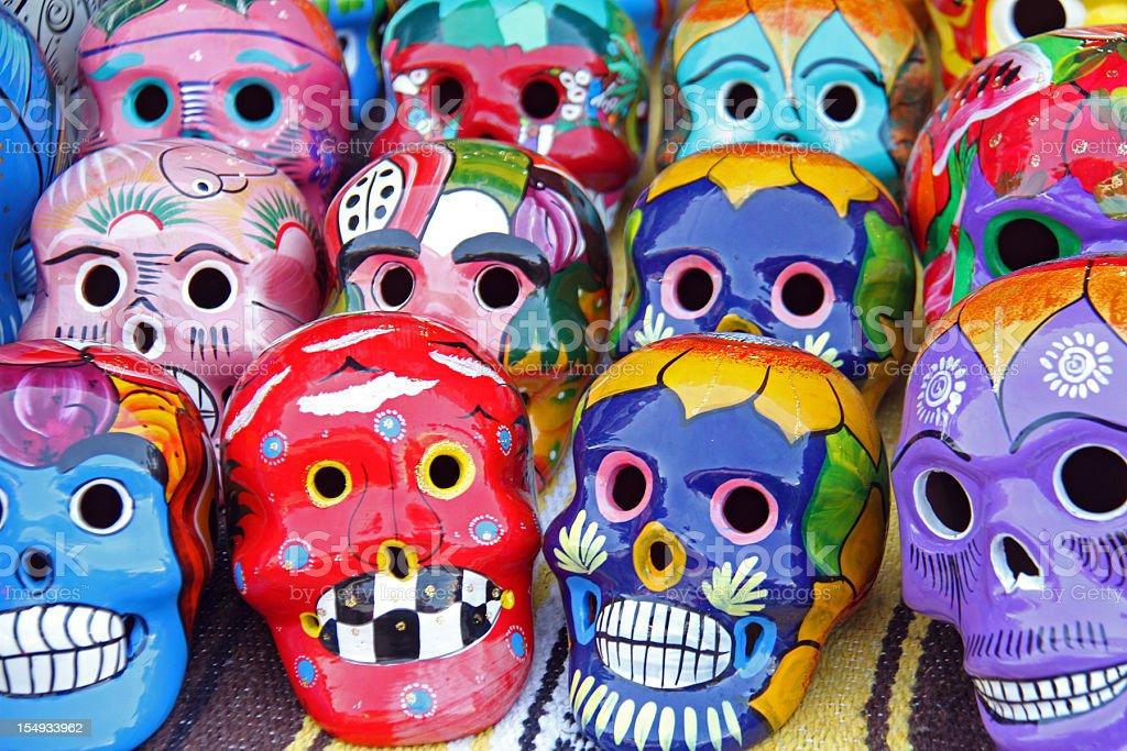 Mexico skulls stock photo