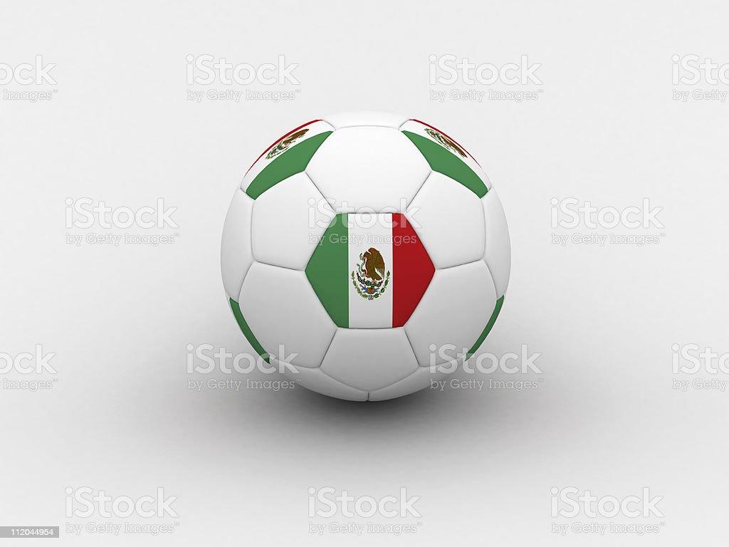 Mexico soccer ball royalty-free stock photo