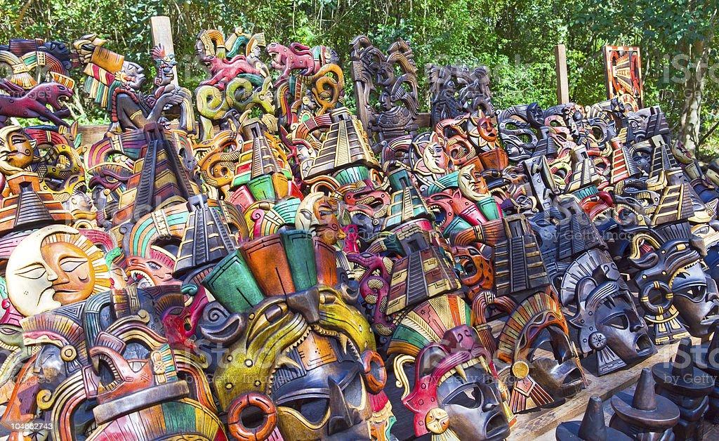 Mexico.   Souvenir bench. royalty-free stock photo
