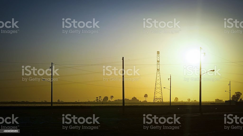 Mexico Sunrise (Mexicali) stock photo