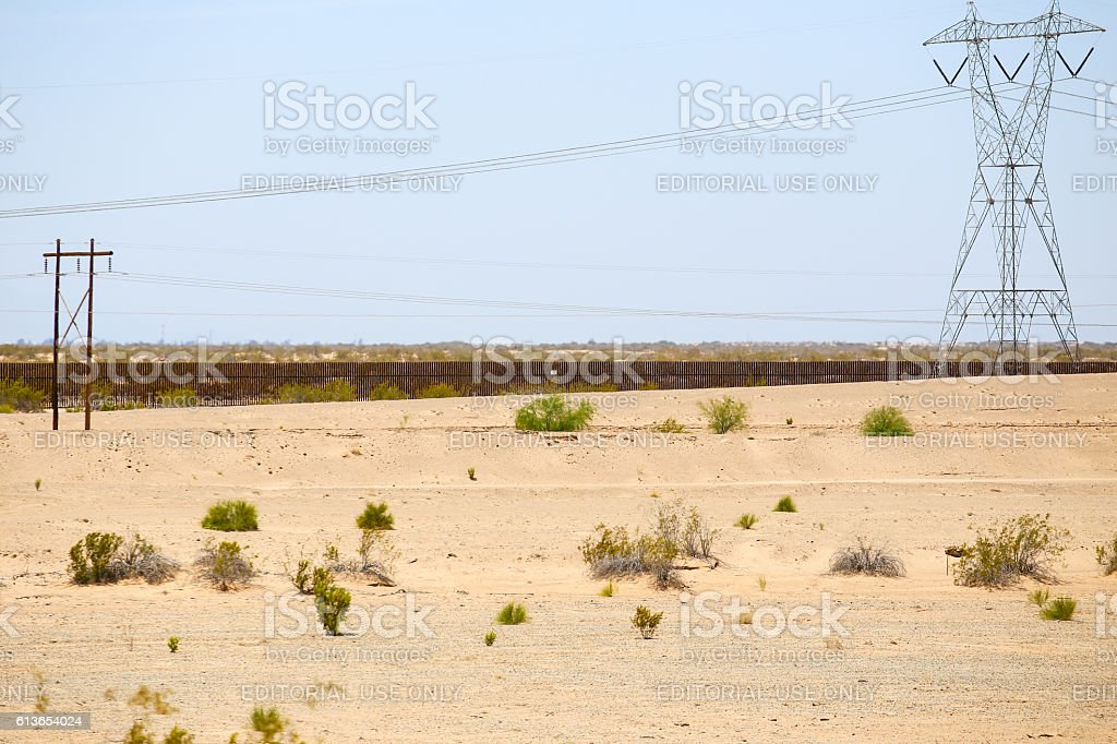Mexico-United States Barrier stock photo