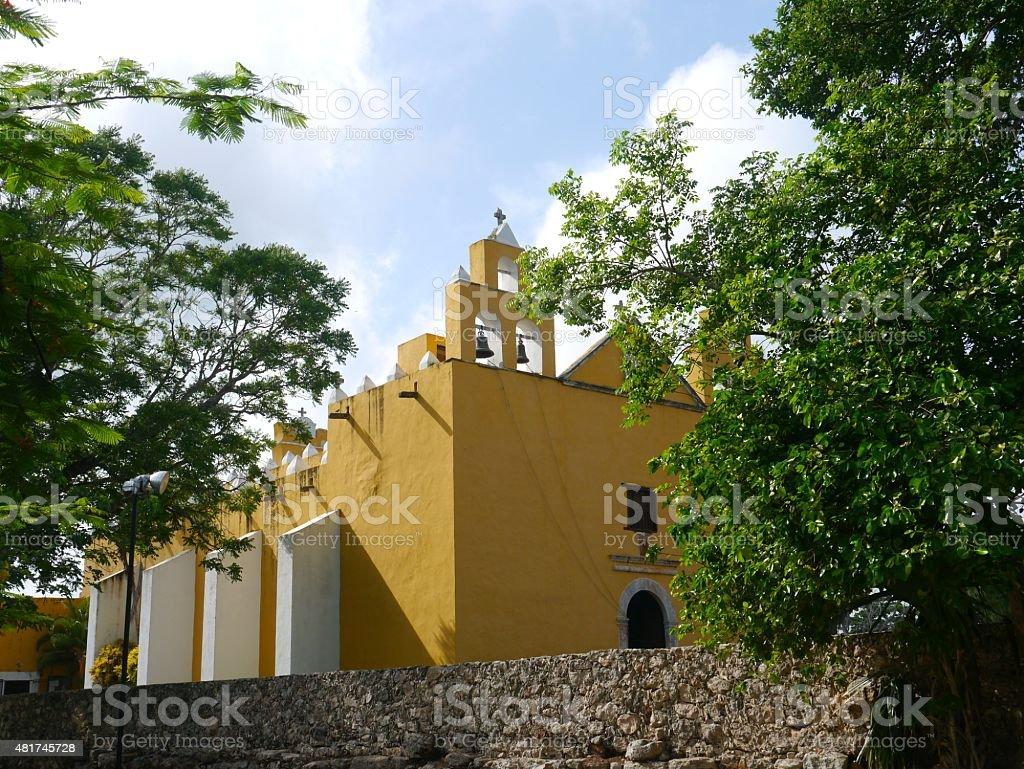 Mexiko kirche yucatan Merida Kolonial stock photo