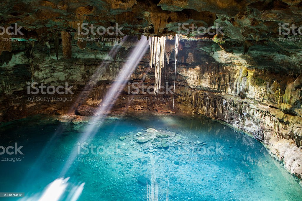 Mexoco Sambula Cenote stock photo