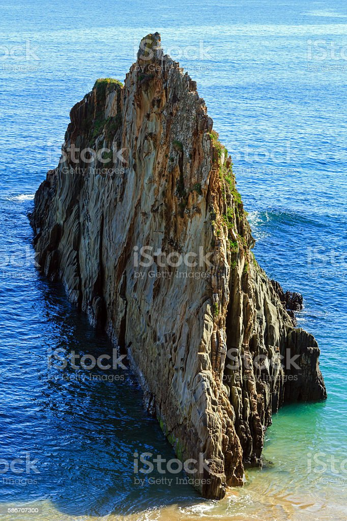 Mexota beach (Spain). stock photo