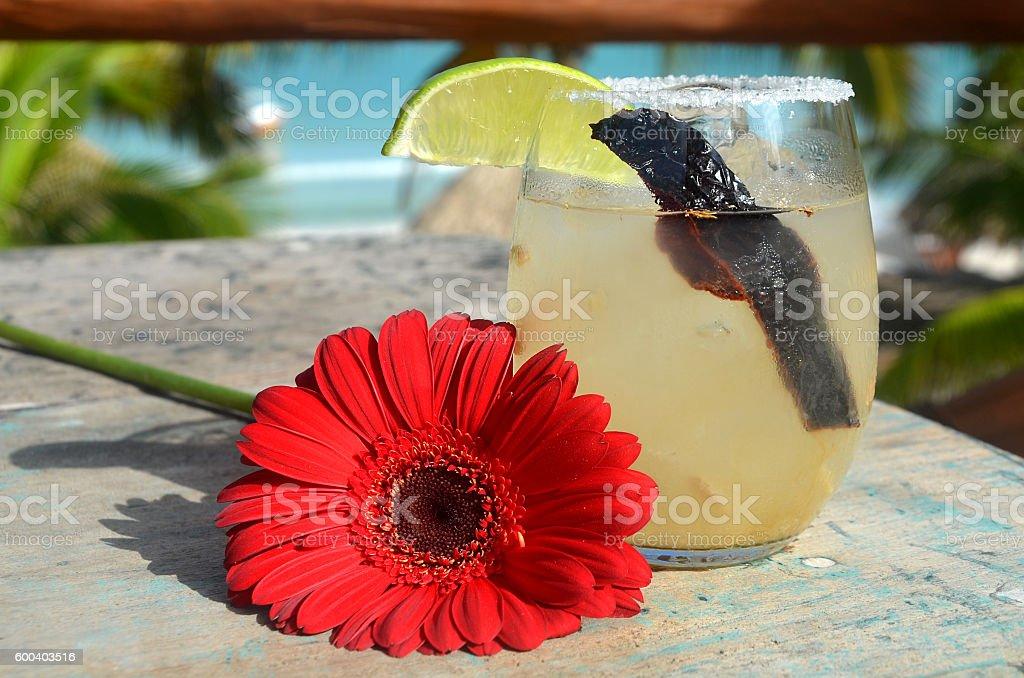 Mezcal sour stock photo