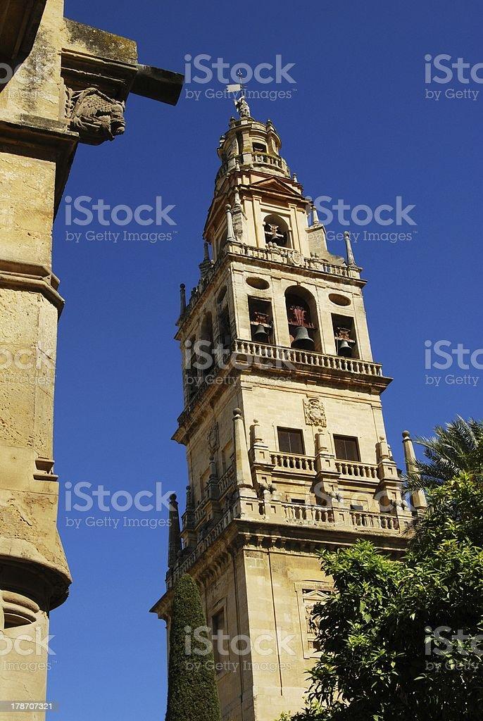 Mezquita bell tower, Cordoba, Spain. royalty-free stock photo