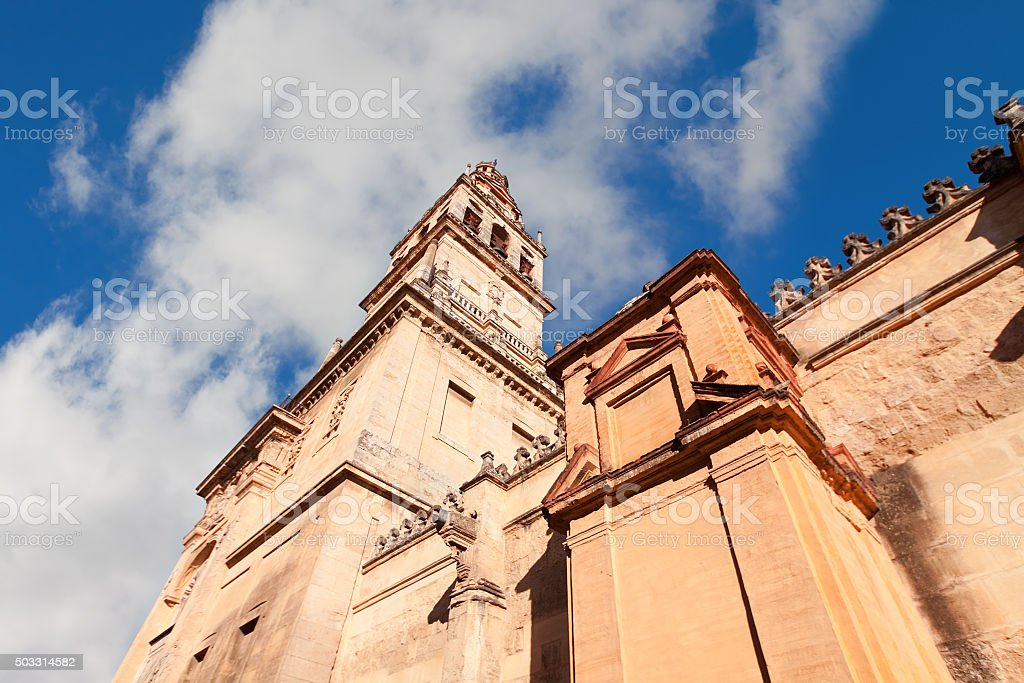 Mezquita, Cathedral bell tower, Cordoba, Cordoba Province stock photo