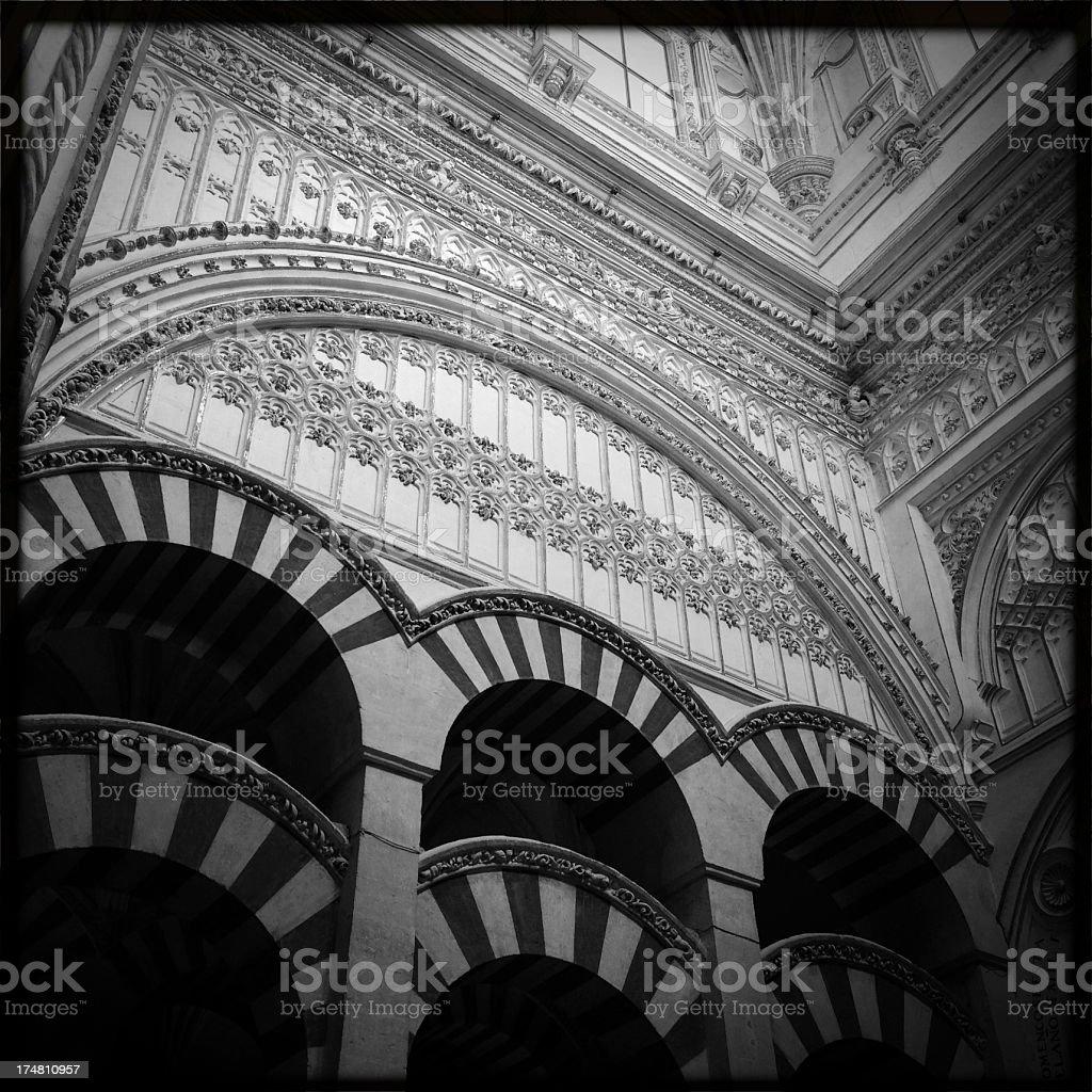 Mezquita Interior royalty-free stock photo