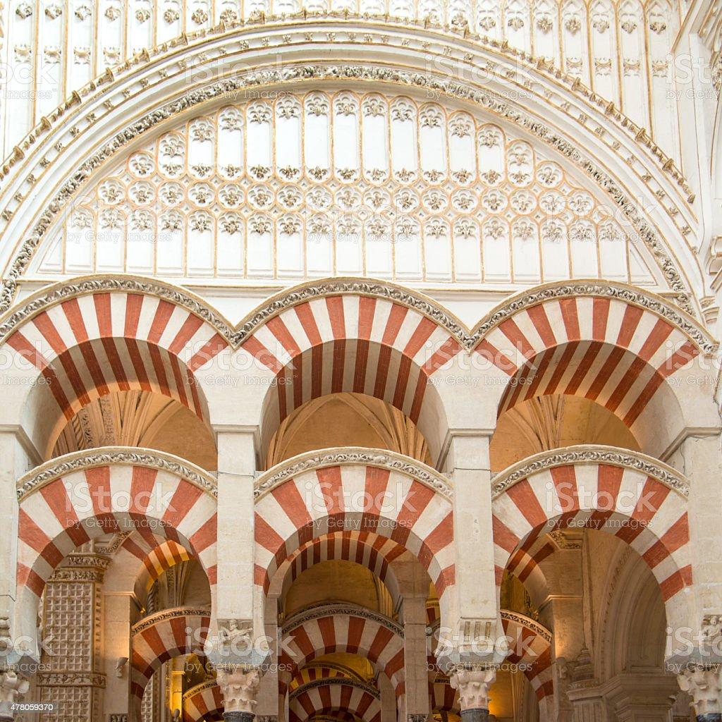 Mezquita interior stock photo