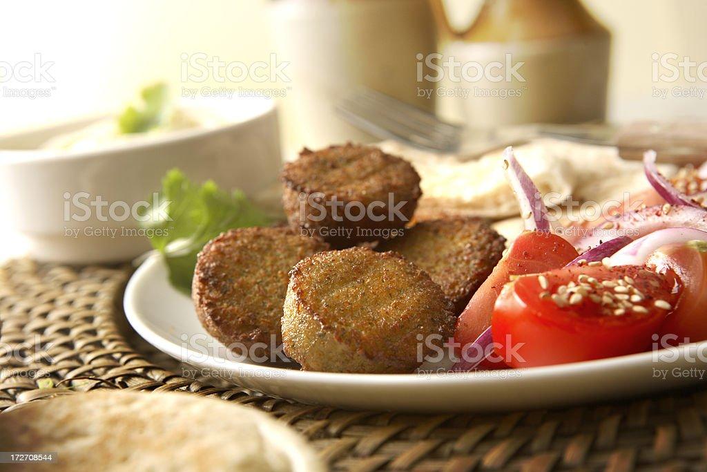 Mezze: Falafel and Hummus royalty-free stock photo