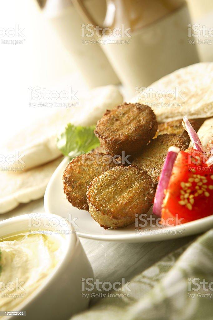 Mezze: Falafel royalty-free stock photo