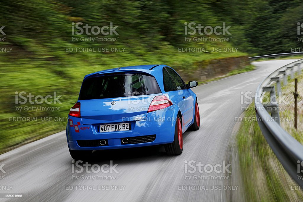 Mégane R26.R in a curve stock photo