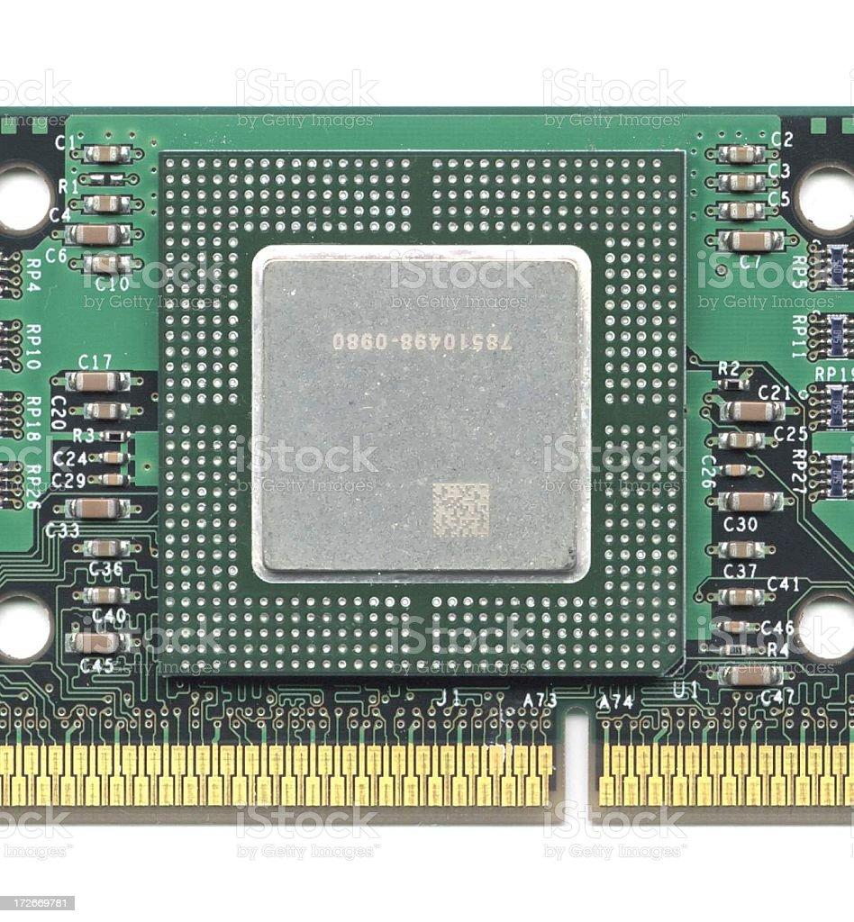 400 Mhz CPU stock photo