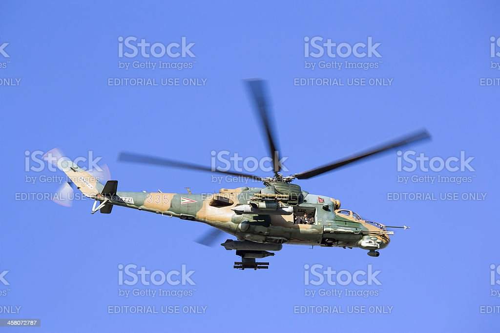 Mi-24 helicopter stock photo