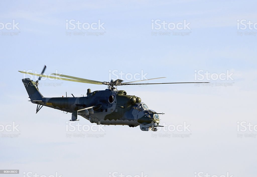 Mi-24V Hind Helicopter royalty-free stock photo