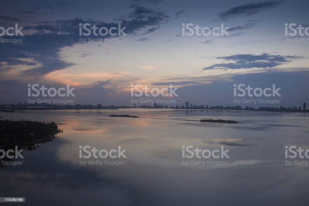 Miami After Sunset royalty-free stock photo