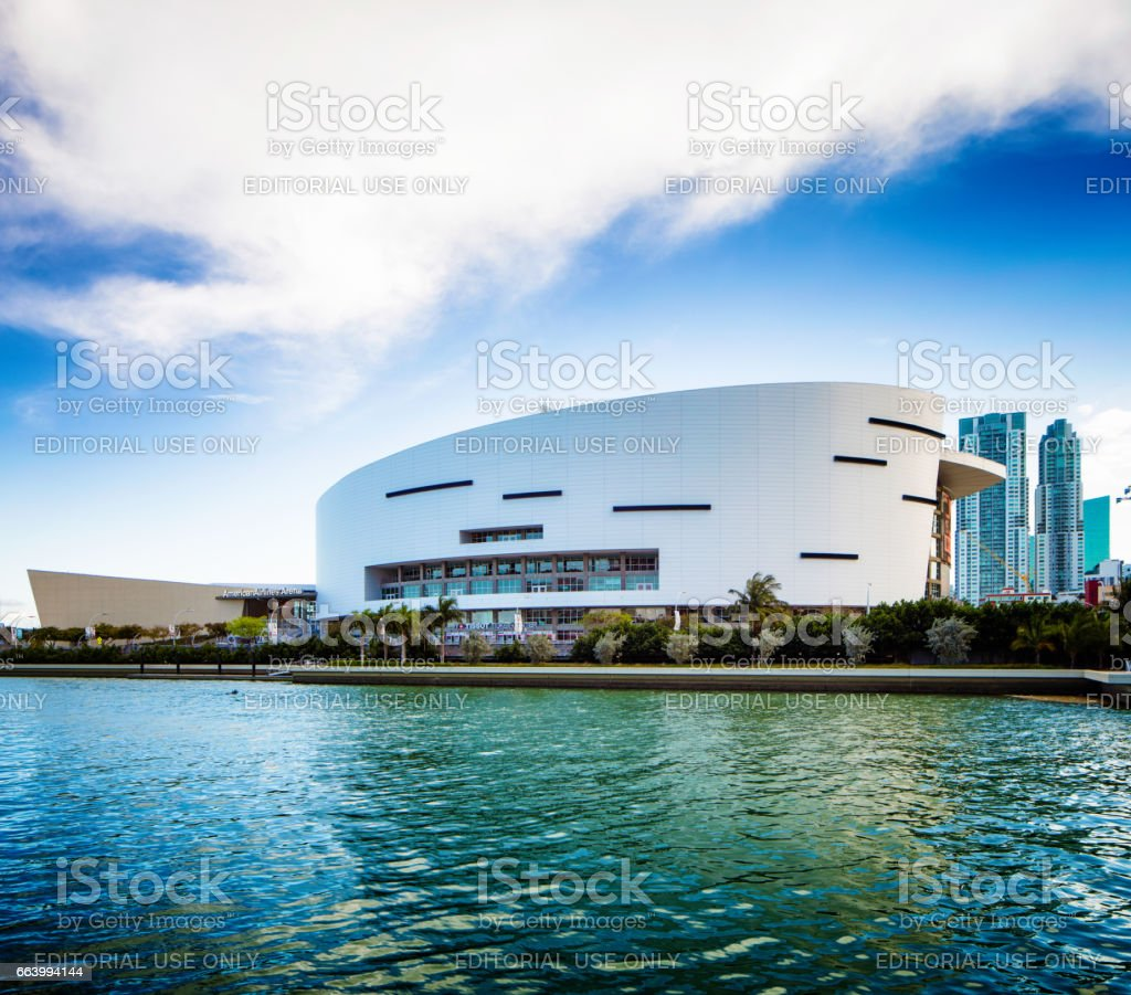 Miami American Airlines stadium side view stock photo