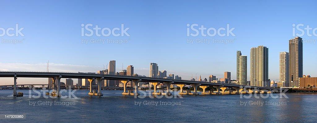 Miami Bayfront Panorama royalty-free stock photo