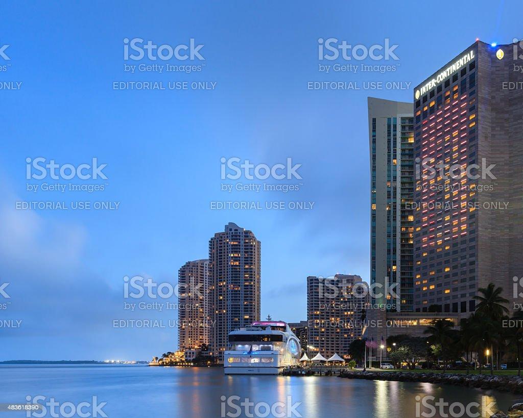 Miami Bayfront Park stock photo