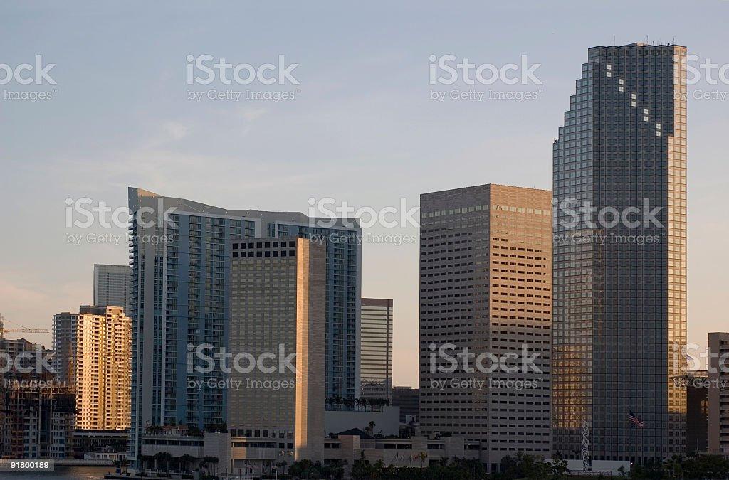 miami bayside highrising stock photo