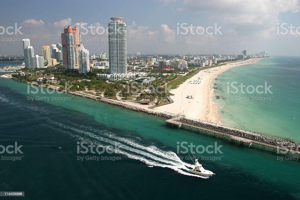 Miami Beach aerial view royalty-free stock photo