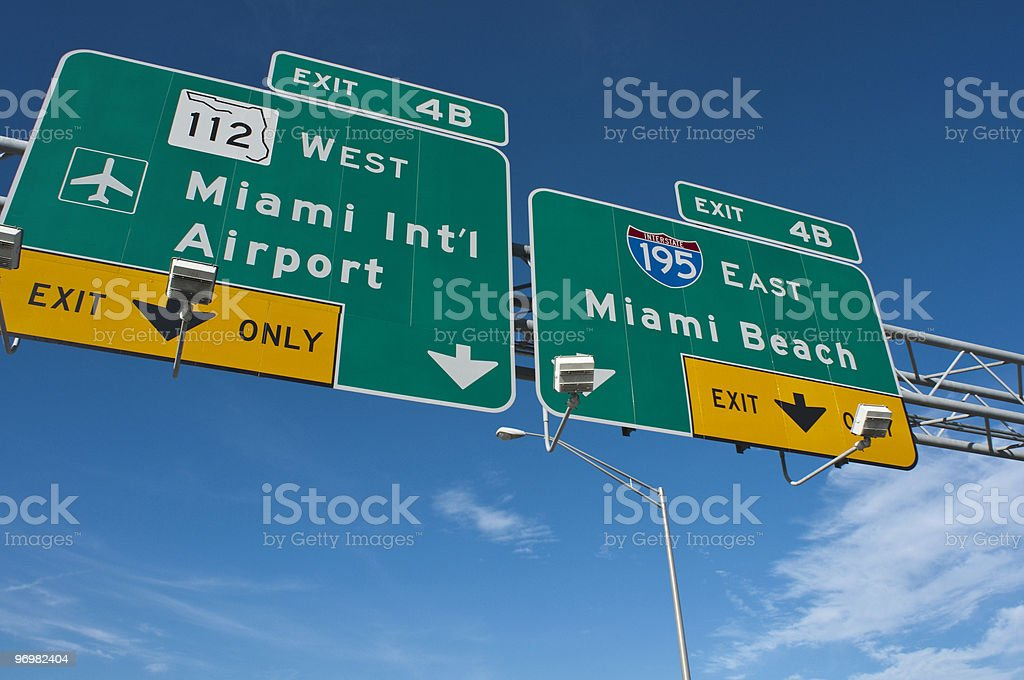 Miami Beach and International Airport royalty-free stock photo