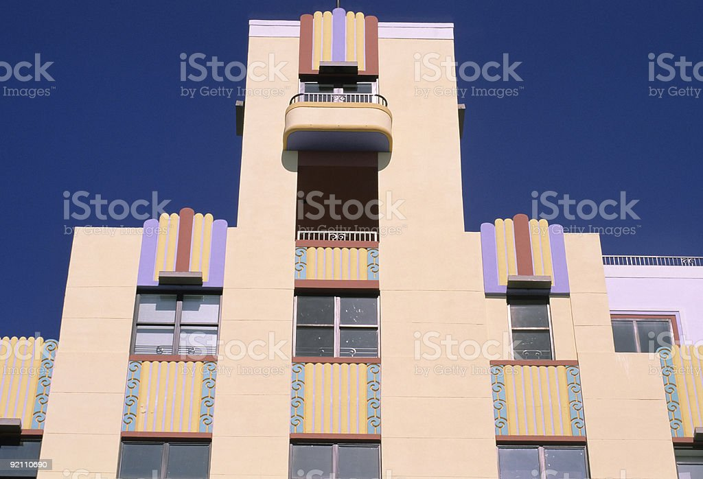 Miami Beach Architecture royalty-free stock photo